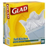 Glad Quick-Tie Tall Kitchen Bags, 13 Gallon, 80 bags at Kmart.com