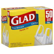 Glad Handle-Tie Tall Kitchen Bags, 13 Gallon, 50 bags at Kmart.com
