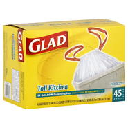 Glad Tall Kitchen Bags, Drawstring, 13 Gallon, 45 bags at Kmart.com
