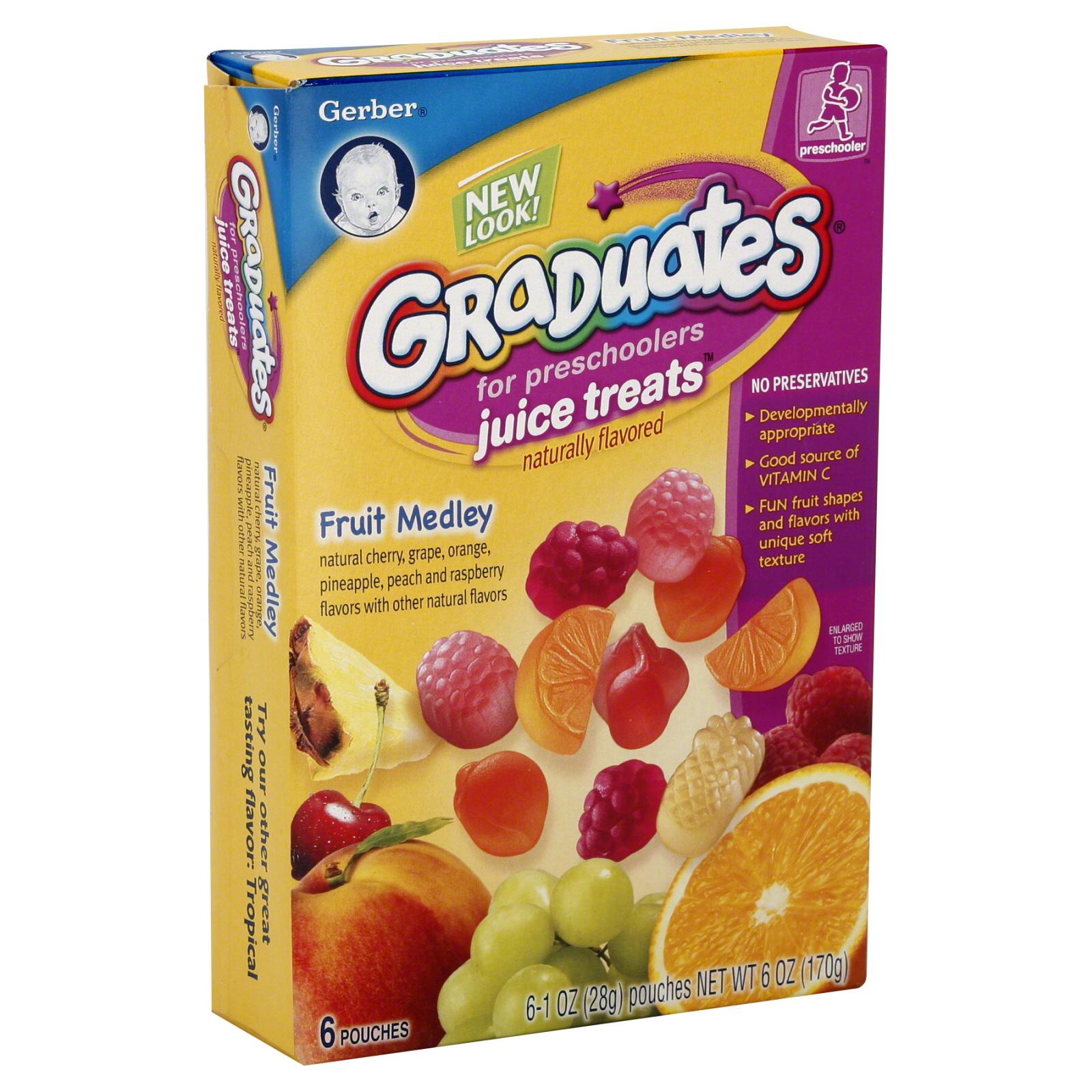 More On Developmentally Appropriate >> Gerber Graduates Juice Treats For Preschoolers Fruit Medley 6 oz