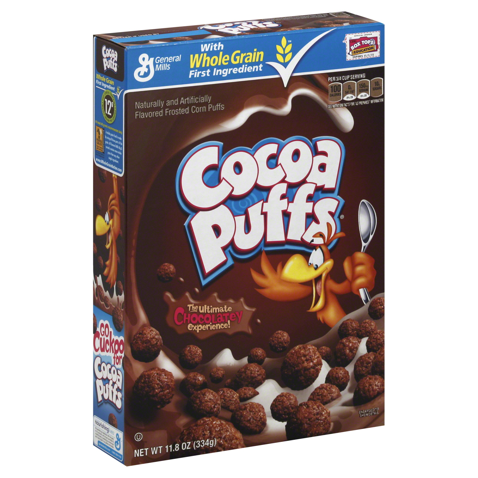 Image of General Mills Cocoa Puffs Cereal, Frosted Corn Puffs, 11.8 oz (334 g)