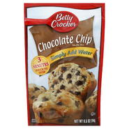 Betty Crocker Muffin Mix, Chocolate Chip, 6.5 oz (184 g) at Kmart.com