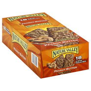 Nature Valley Granola Bars, Crunchy, Peanut Butter, 18 - 1.5 oz (42 g) 2-bar pouches [26.6 oz (756 g)] at Sears.com