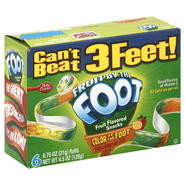 General Mills Color by the Foot Fruit Flavored Snacks, Rainbow Punch Flavored, 6 - 0.75 oz (21 g) rolls [4.5 oz (128 g)] at Kmart.com