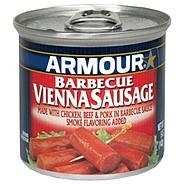 Armour Vienna Sausage, Barbecue, 5 oz (142 g) at Kmart.com