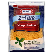 Kraft Natural Shredded Cheese, Reduced Fat, Sharp Cheddar, 8 oz (227 g) at Kmart.com