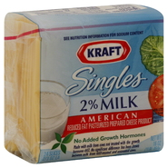 Kraft Singles Cheese Product, Reduced Fat Pasteurized Prepared, 2% Milk, American, 24 - 0.67 oz slices [16 oz (1 lb) 453 g] at Kmart.com