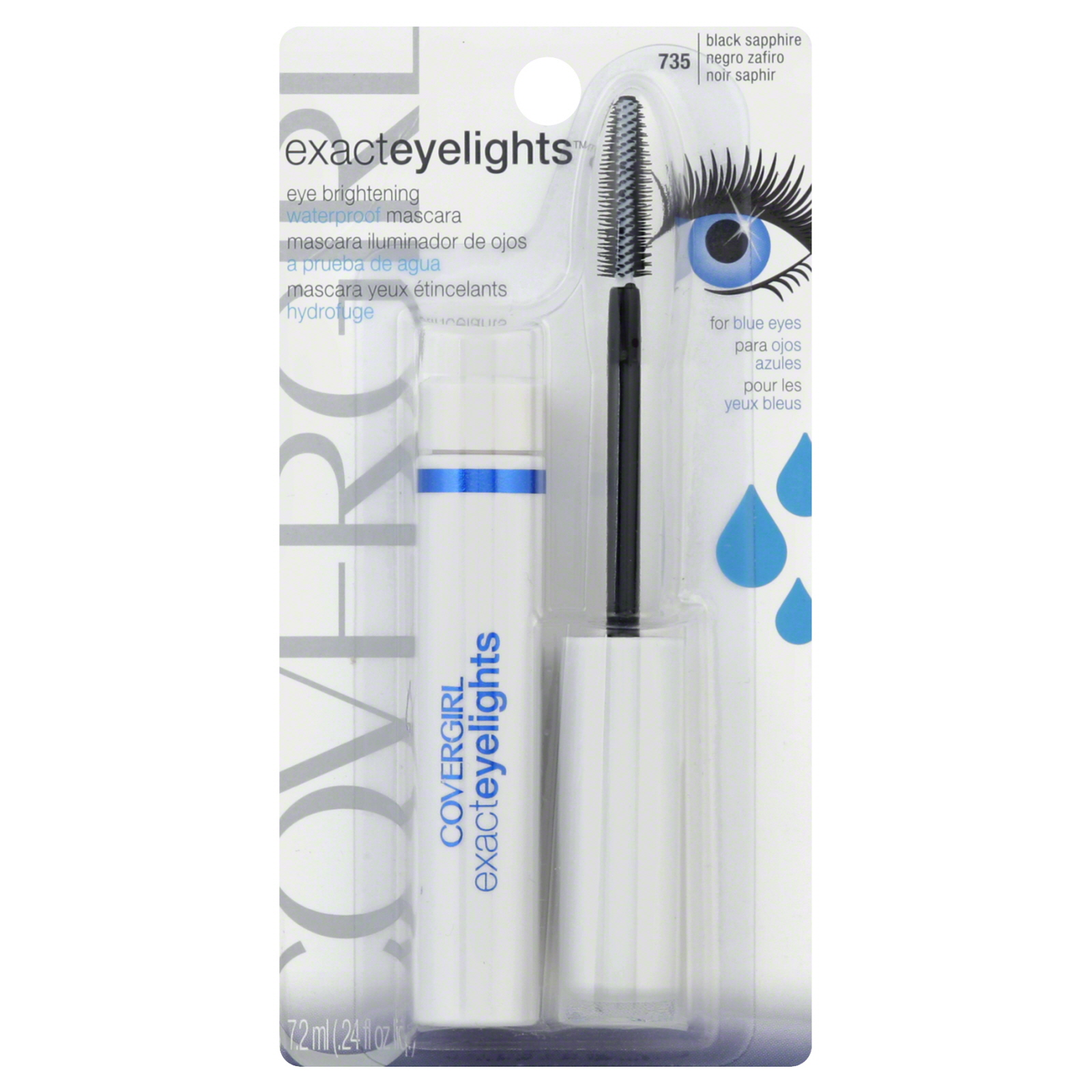 Exact Eyelights Mascara, Waterproof, Eye