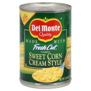 Del Monte Fresh Cut Sweet Corn Cream Style, Golden, 14.75 oz (418 g) at Kmart.com