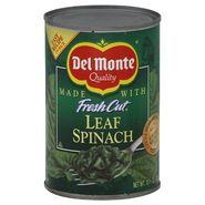 Del Monte Fresh Cut Spinach, Leaf, 13.5 oz (383 g) at Kmart.com