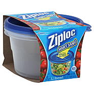 Ziploc Smart Snap Seal Containers and Lids,  Bowl, Large, 7 Cups, 2 containers and lids at Kmart.com