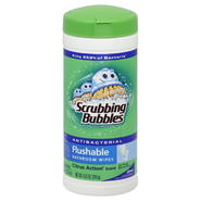 Scrubbing Bubbles Bathroom Wipes, Antibacterial, Flushable, Citrus Action Scent, 28 wipes [8.47 oz (240 g)] at Kmart.com