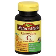 Nature Made Vitamin C, Chewable, 500 mg, Tablets, Orange, 60 tablets at Kmart.com