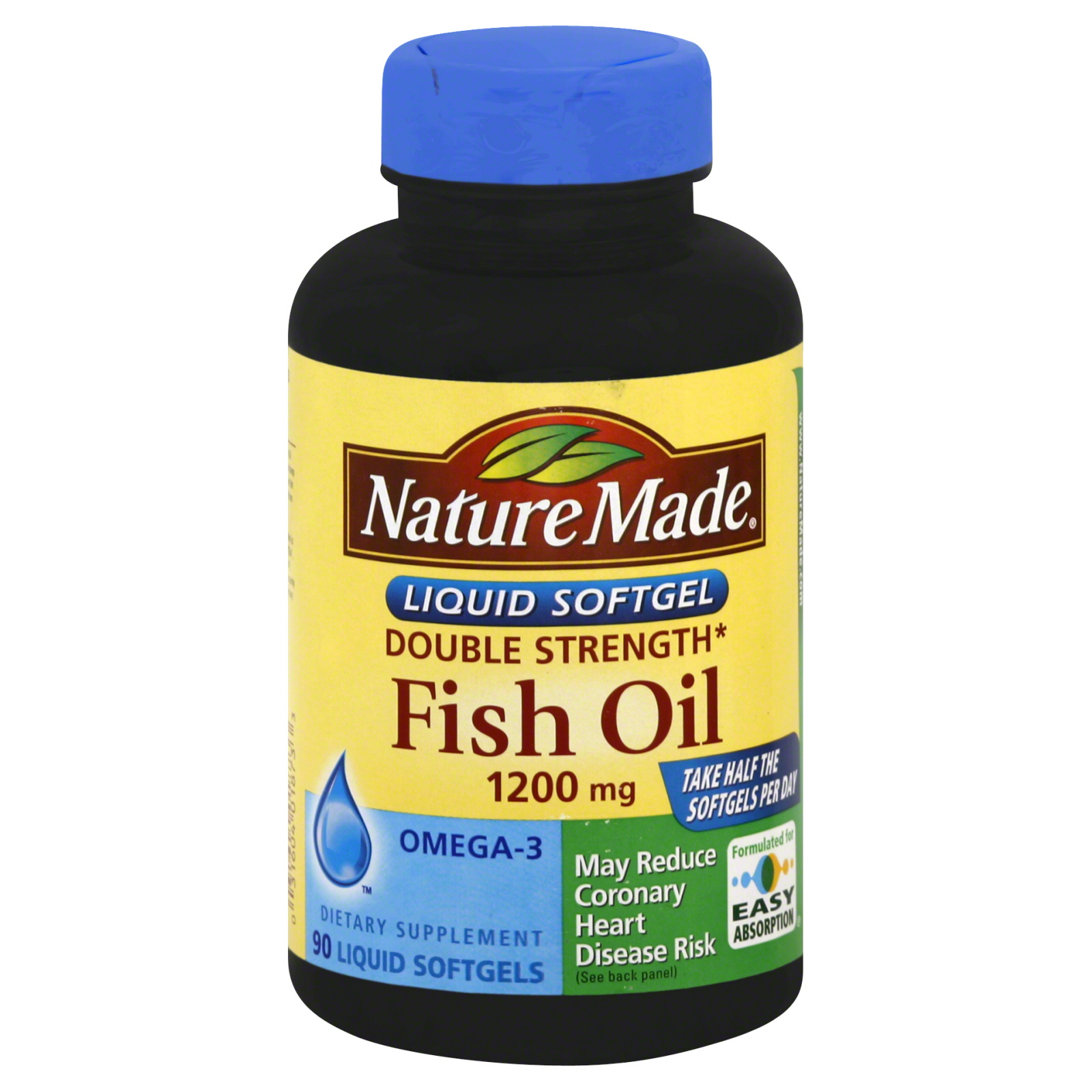 Fish Oil, Double Strength, 1200 mg, Liquid