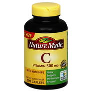 Nature Made Vitamin C, with Rose Hips, 500 mg, Caplets, Value Size, 500 caplets at Kmart.com