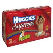 Huggies Supreme Baby-Shaped Diapers, Size 2 (12 to 18 lb), Winnie the Pooh, Jumbo, 42 diapers at Kmart.com