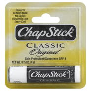 ChapStick Classic Skin Protectant/Sunscreen, SPF 4, Original, 0.15 oz (4 g) at Kmart.com
