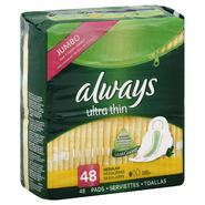 Always Pads, Ultra Thin, Regular, 48 pads at Kmart.com