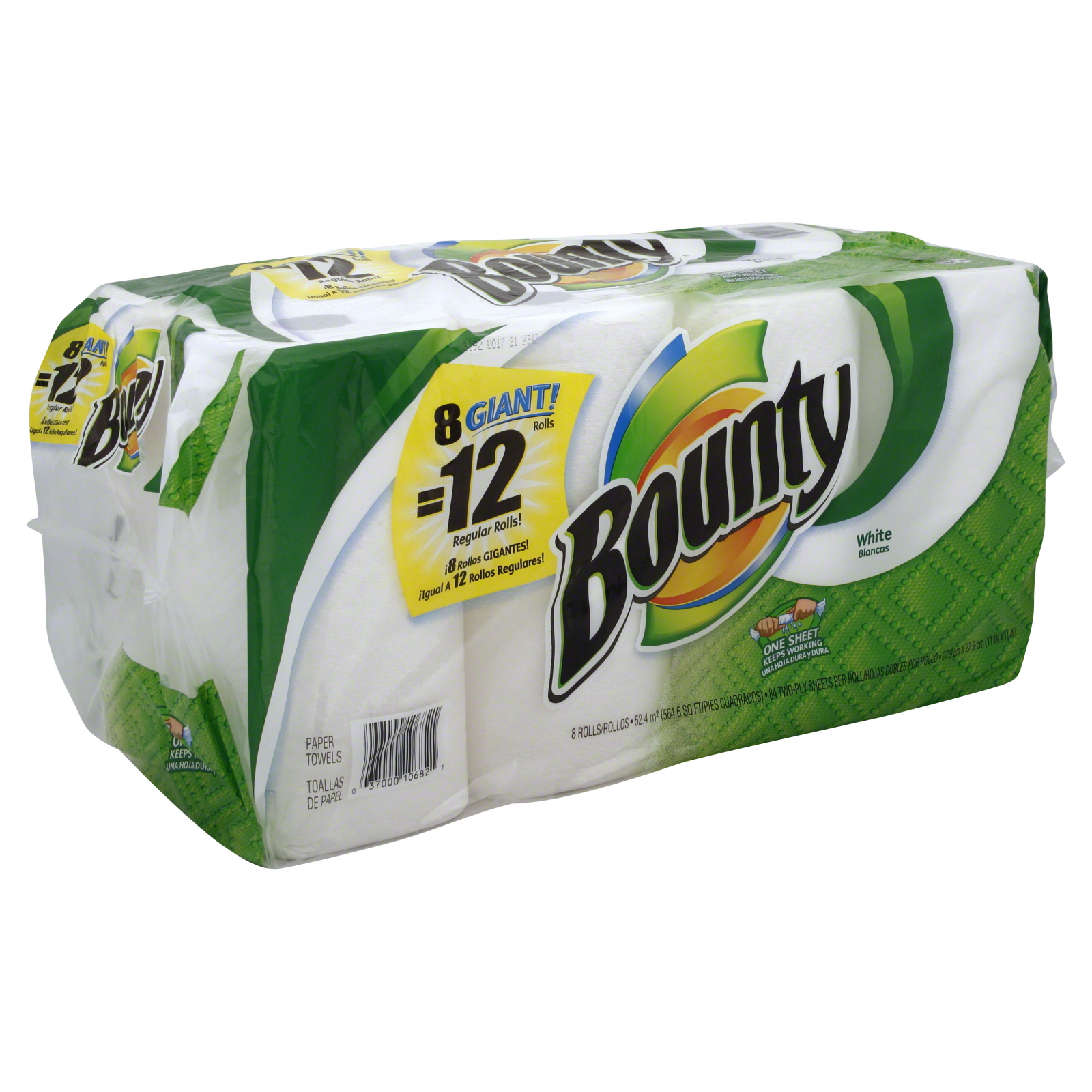 Paper Towels, Giant Rolls, White, Two Ply, 8 rolls                                                                               at mygofer.com