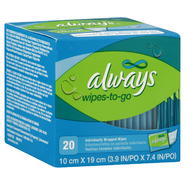 Always Wipes-To-Go, 20 wipes at Kmart.com