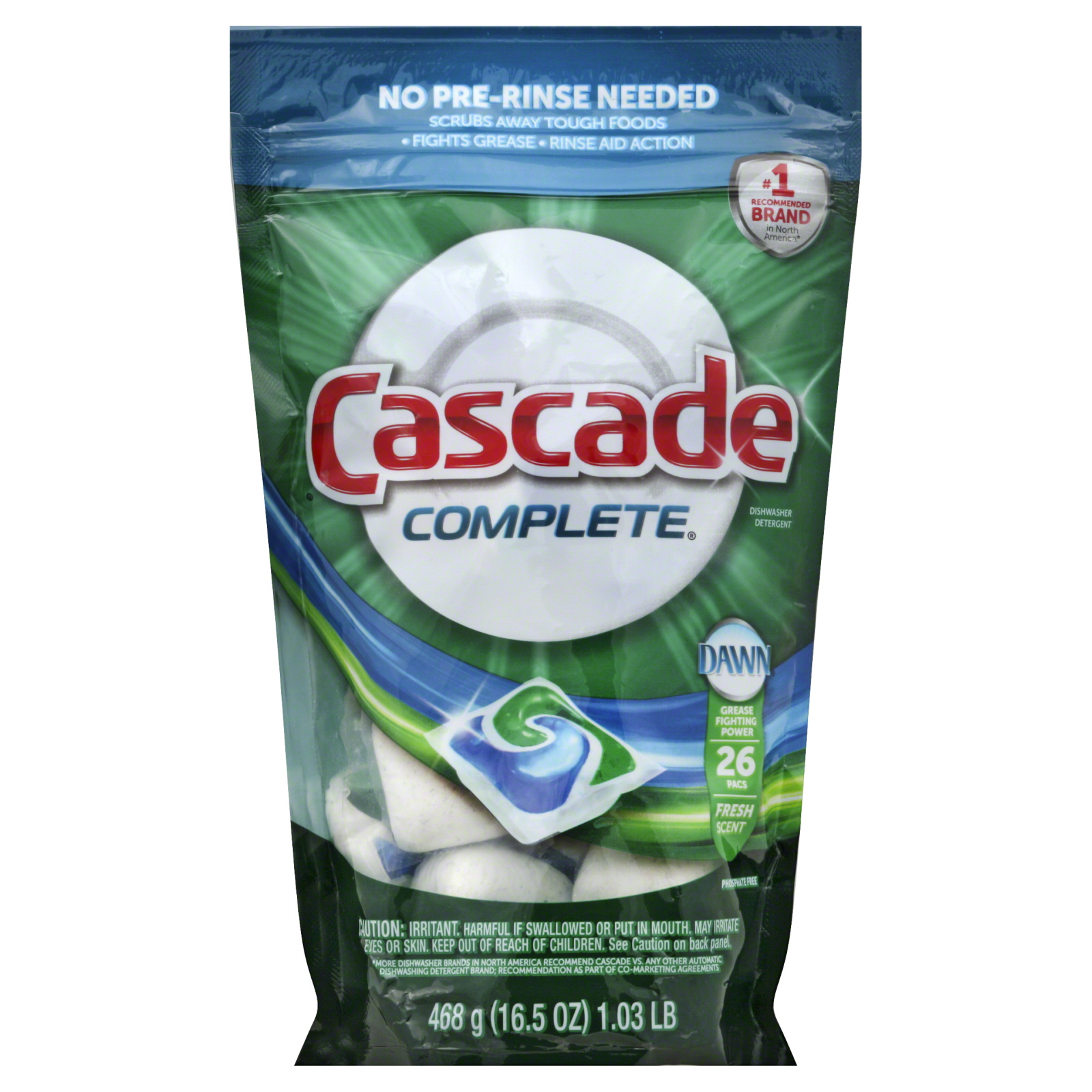 Cascade Dishwasher Detergent Fresh Scent 75 Oz Lb