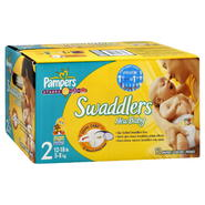 Pampers Swaddlers New Baby Diapers, 2 (12-18 lb), Sesame Beginnings, 92 diapers at Kmart.com
