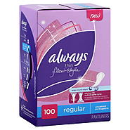 Always Pantiliners, Thin Flexi-Style, Regular, Unscented, 100 pantiliners at Kmart.com