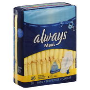Always Maxi Pads, Flexi-Wings, Regular, 36 pads at Kmart.com