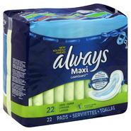 Always Pads, Maxi, Without Wings, Long, Super, 22 pads at Kmart.com