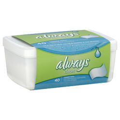 Always Feminine Wipes, Clean, 40 wipes at Kmart.com