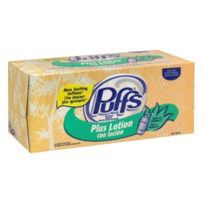 Facial Tissue Plus Lotion with Aloe & Vitamin E, 2-Ply, White, Family Size, 144 tissues                                          at mygofer.com