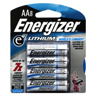 e2 Lithium Batteries, AA, 8 batteries