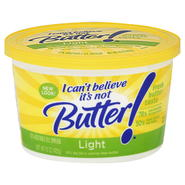 I Can't Believe It's Not Butter! Vegetable Oil Spread, 37%, Light, 15 oz (425 g) at Kmart.com