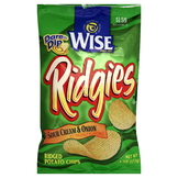 Wise Ridgies Ridged Potato Chips, Sour Cream & Onion, 4 oz (113 g) at mygofer.com