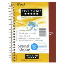 Mead Five Star Personal Notebook, College Ruled, 100 Sheets, 1 notebook at Kmart.com