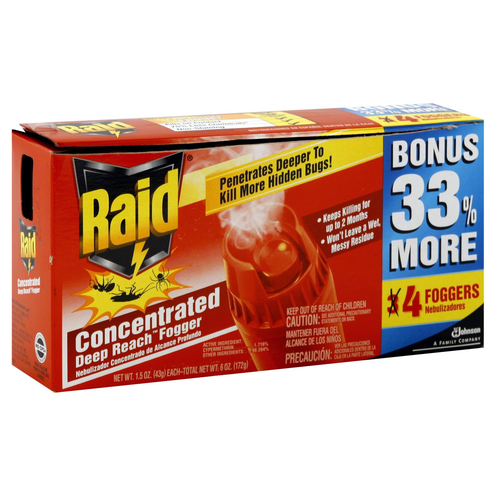 Raid Concentrated Deep Reach Fogger 4 1 5 Oz 43 G