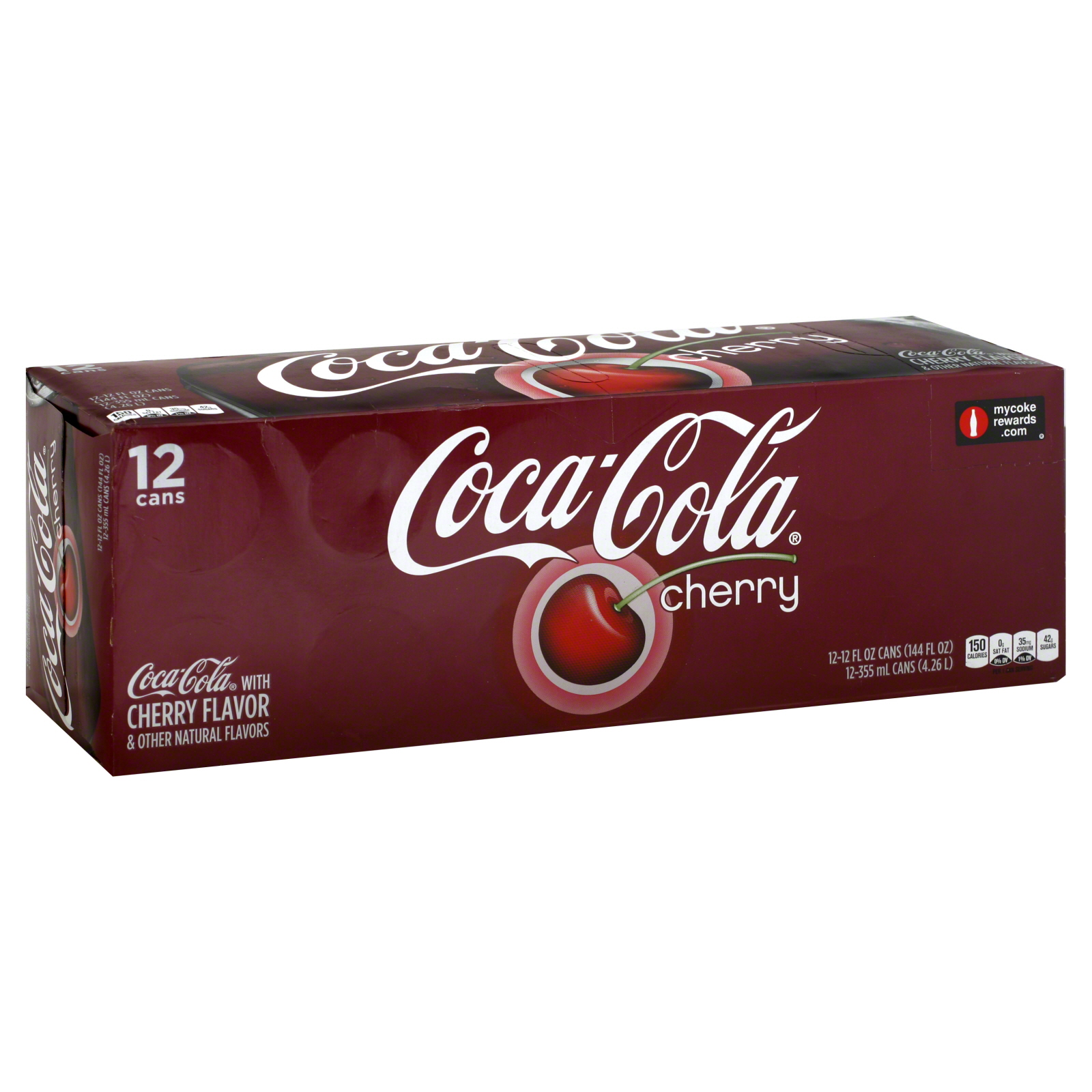 Cola, Cherry, Fridge Pack, 12 - 12 fl oz (355 ml) cans [144 fl oz (4.26 lt)]                                                     at mygofer.com