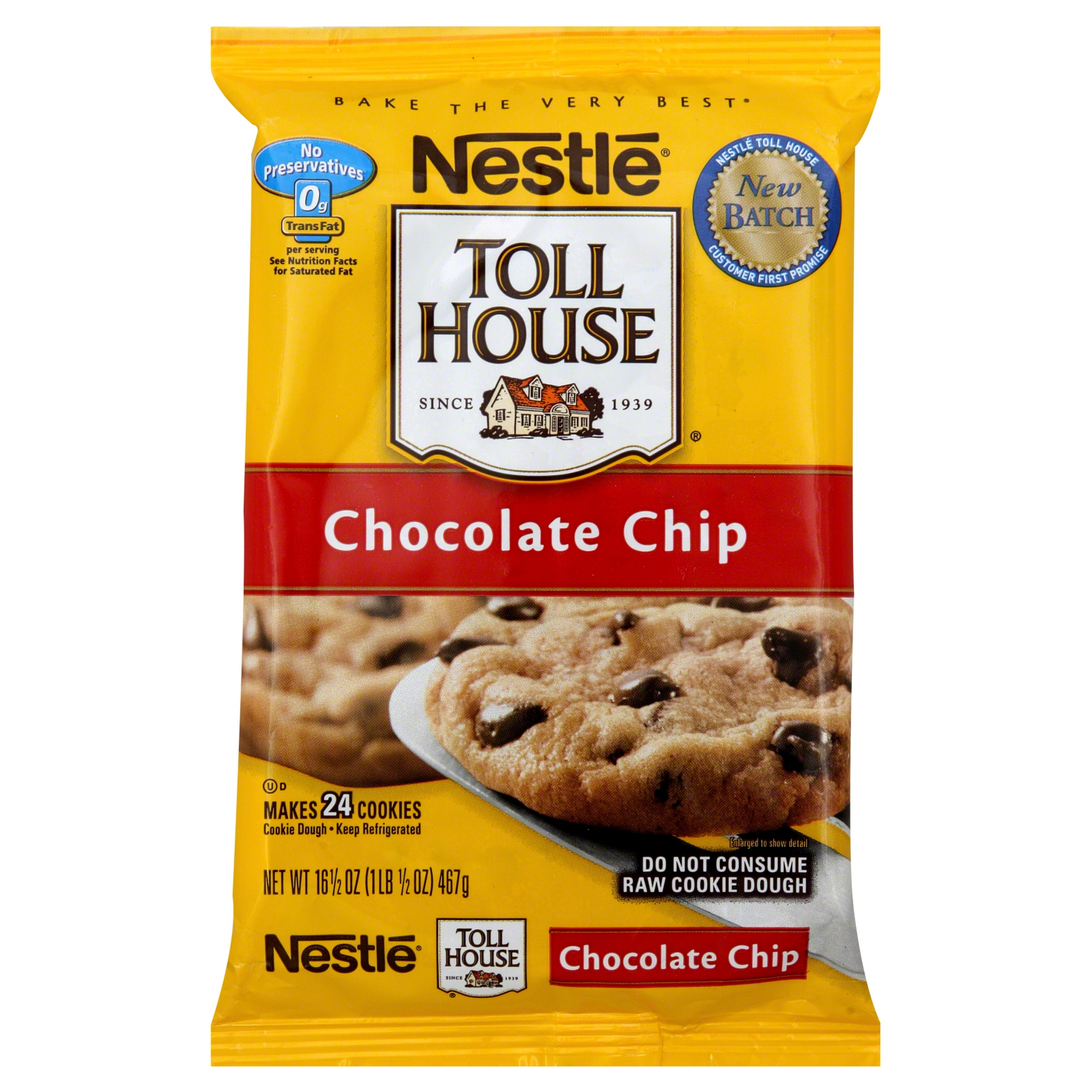 Nestle  Cookie Dough, Chocolate Chip, 24