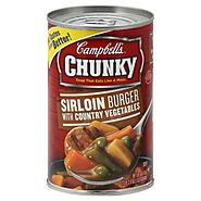 Campbell's Chunky Soup, Sirloin Burger, with Country Vegetables, 18.8 oz (1 lb 2.8 oz) 533 g at Kmart.com
