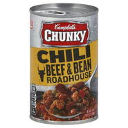 Campbell's Chunky Chili, with Beans, Roadhouse, 19 oz (1 lb 3 oz) 539 g at Kmart.com
