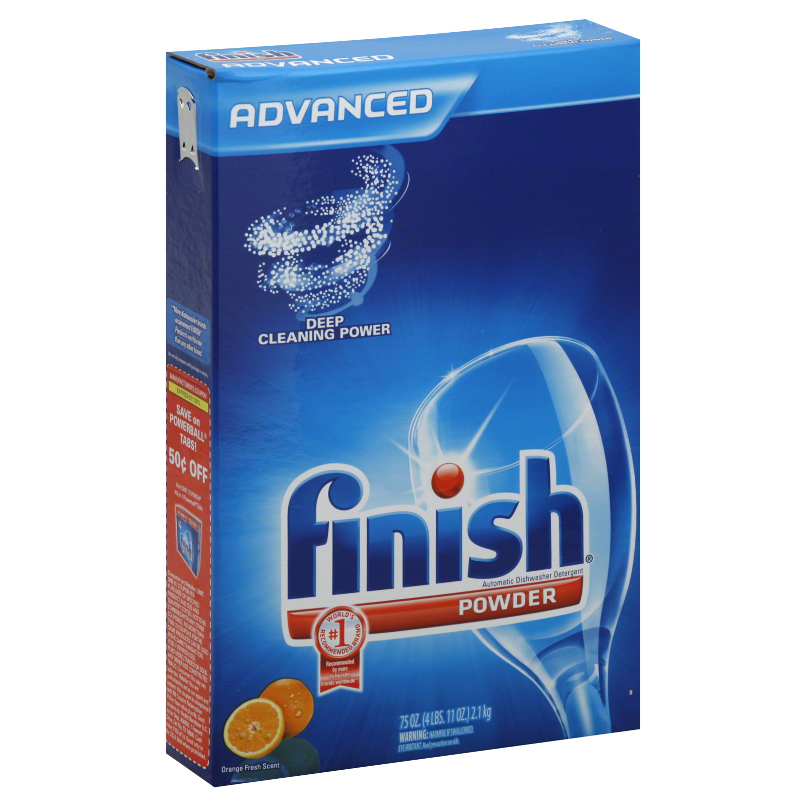 Finish Dishwasher Detergent Automatic Powder Orange