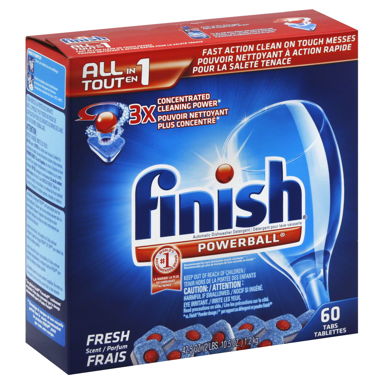 Automatic Dishwasher Detergent, Powerball,