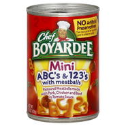 Chef Boyardee ABC's & 123's, Mini, with Meatballs, 15 oz (425 g) at Kmart.com