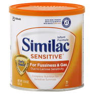 Similac Sensitive Infant Formula, for Fussiness and Gas, With Iron, Powder, Birth to 12 Months, 12.6 oz (357 g) at Kmart.com