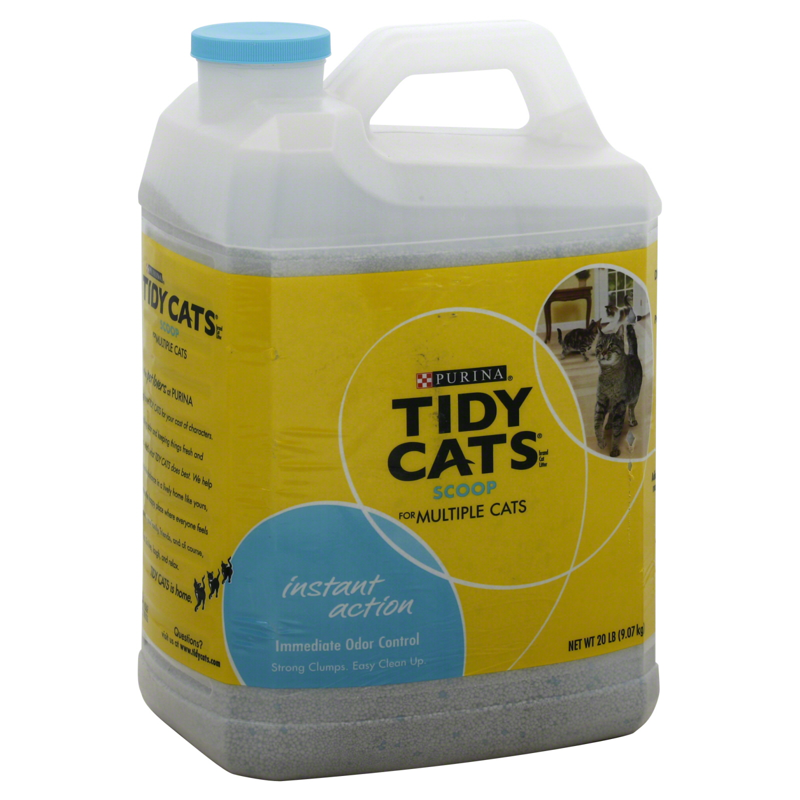 Instant Action Cat Litter, Scoop, for Multiple Cats, 20 lb (9.07 kg)