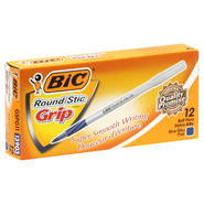 BIC Ball Pens, Round Stic Grip, Blue, Fine, 12 pens at Kmart.com