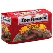 Nissin Top Ramen Ramen Noodle Soup, Beef Flavor, 6 - 3 oz packages [18 oz (510 g)] at Kmart.com