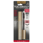 L'Oreal Voluminous Full Definition Mascara, Volume, Black Brown 385, 0.28 oz (8 ml)