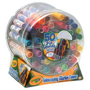 Crayola Pip-Squeaks Telescoping Mini Marker Tower, Washable Markers, 50 markers at Kmart.com