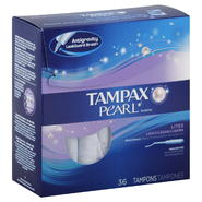 Tampax Pearl Tampons, Plastic, Lites/Light Absorbency, Unscented, 36 tampons at Kmart.com
